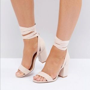 ASOS nude sandals